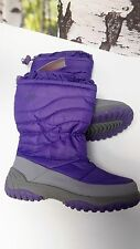 Champion CG Kids Gils Purple Gray Thermolite Snow Boots Girl Size:3
