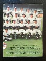 Official 1960 World Series New York Yankees vs. Pittsburgh Pirates Program