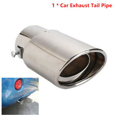 Car EXHAUST Tail Muffler Tip Pipe Chrome Round Fit pipe diameter 63mm