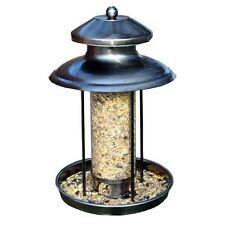 New Deluxe Lantern Hanging Bird Seed Feeder Stylish Garden Pewter Effect Steel