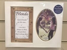 Friends Keepsake Photo Mount With Verse 10x8 Inches Occasion Love Happiness Life