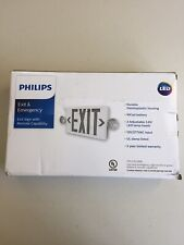 Philips Exit/Emergency Combo 2 Light LED White Interchangeable Red&Green Lenses