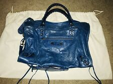 Balenciaga Classic City Moto Bag (Electric Blue)