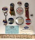 Vintage 60?s BUFFALO BILLS AFL Pinback Button Booster Card Collection NFL