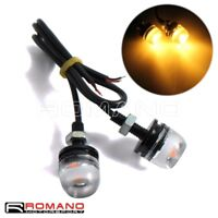 Motorcycle Eagle Eye License Plate Light lamp Daytime Running DRL 5630 12V LED