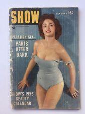 January 1956 Show Entertainment Magazine Pocket Size -- 1956 Beauty Calendar