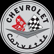 "Chevrolet Corvette 14"" Round Embossed Ande Rooney Tin Sign Garage Mancave Bar"
