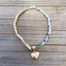 Locket Bracelet Stretch beaded Nwt Nordstrom Melrose and Market Women's Heart