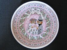 50th Wedding Anniversary Plate Enesco Lucy & Me Bears, 1987, Mint, label, Japan