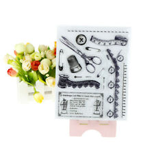 Novelty Sewing Tool Clear Stamp DIY Scrapbooking Card Making Photo Album DecorZP