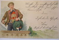 Mountains, Alps, Traditional Costume, Litho 1898 (31265)