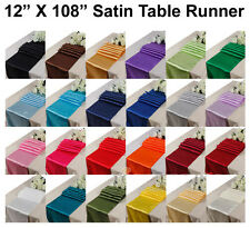 10pcs Wedding 12 X 108 inch Satin Table Runner Banquet decoration FREE SHIPPING