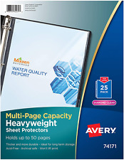 Avery 74171 Multi Page Sheet Protectors 50 Pages 25 Pack Diamond Clear
