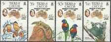 Timbres Animaux Turks et Caiques 701/4 ** lot 16674