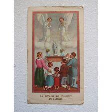 IMAGE PIEUSE ANCIENNE : La DIZAINE de CHAPELET en FAMILLE, 1947