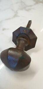 antique octagonal iron door knob