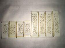 "Vintage WILTON White Filigree Wedding Cake Pillars 3"" & 5"" Set of 8  Used"