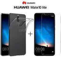 COVER CUSTODIA TPU per Huawei Mate 10 Lite + PELLICOLA VETRO TEMPERATO