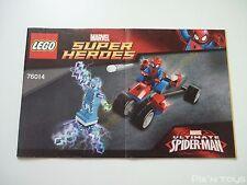 LEGO Notice Instruction / 76014 Marvel Ultimate Spider Man Trike vs Electro