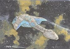 Star Trek Voyager Heroes & Villains Supervisor Yost's Ship Roy Cover sketch card
