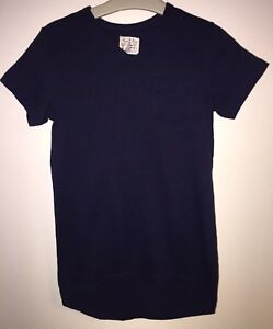 Boys Age 8 Years - Next Navy Longer Length T Shirt Top - Excellent Cond