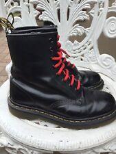 Doc Martens Smooth Black Leather Boots 1460 8hole Uk3/36 Used Unisex