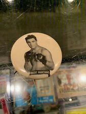 ROCKY MARCIANO HEAVYWEIGHT CHAMP BOXING PM10 STADIUM PIN PINBACK BUTTON