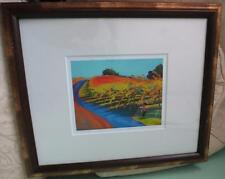 Ann Rea Landscape art Framed Matted Signed Print Yielding Vines