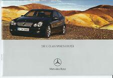Mercedes-Benz C  - Class UK Sales Brochure 2004 + Price List