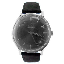 Zenith Automatic Charcoal Gray Dial Stainless Steel Mens Watch For Parts/Repairs
