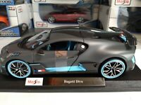Maisto 1:18 Scale Diecast Model Car - Bugatti Divo NIB SPECIAL EDITION
