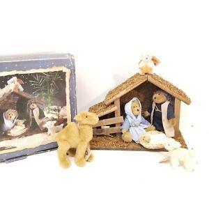 2005 Boyd's Bear Collection 7 pc Plush Nativity Manger Set Christmas In BOX