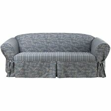 Sure Fit Vintage Script Sofa Slipcover Blue