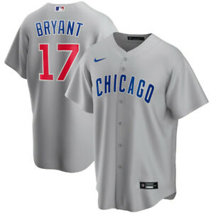 Brand New 2021 Chicago Cubs Kris Bryant #17 Nike Road Replica Team Jersey NWT
