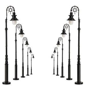 10pcs Model Railraod Train HO Scale Lamp Post 8.5cm 1:87 Street Light LQS69