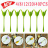 20Pair Bloom Napkin Holders Table Plastic Twist Flower Serviette Holder Decor UK
