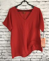 NWT Oh My Gauze Auburn Crimson Lagenlook Top Blouse Womens Size S/M (1)