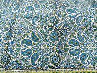 Écharpe authentique Iran Bleu Fait main Motifs cachemires Étole Foulard Perse