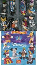 Disney - Mickey - Donald - 8 peluches - McDonald's Disneyland 2000 - set complet