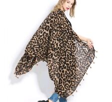large Leopard grain patterns  Soft Cotton Shawl Scarves hijab gift wrapping