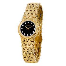 WITTNAUER #11P11 SAVOY GENUINE DIAMONDS WOMENS GOLD BRACELET WATCH NEW $595 sale