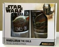 New In Box Star Wars The Mandalorian THE CHILD 16oz Glass 2-pack