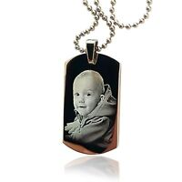 Collana uomo D-Tag personalizzato/inciso con foto/testo