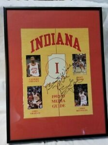 Bob Bobby Knight Autographed, Framed INDIANA BASKETBALL GUIDE, 1992-93 Inscribed