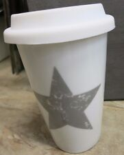Coffee to go gobelet tasse café étoile blanc gris porcelaine