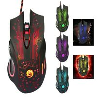 3200 DPI LED Optical USB Wired Gaming Game Mouse Gamer Mice for PC Laptop