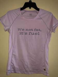 Alo Womens Short Slv Pink Coolfit Shirt Athletic Top It's Not Far It's Fuel Sz M