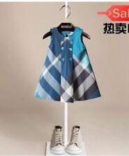 KIDS GIRLS DRESS (BLUE STRIPES)