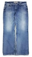 Guess Los Angeles Men's Desmond Relaxed Straight Blue Jeans 38x32 Stretch