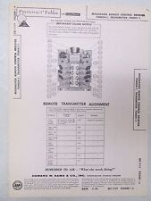 Sams Photofact Folder Radio Parts Manual Magnavox Remote Control Receiver 704054